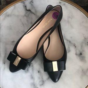 Kate Spade Norah Bow Tie Logo Flats Shoes NWOB